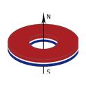 四川钕铁硼磁铁圆环轴向充磁